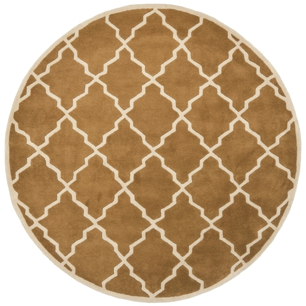 Safavieh Handmade Moroccan Chatham Brown Wool Rug (5' Round)