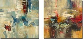 Randy Hibberd 'Instinctual Beauty I and II' Canvas Art