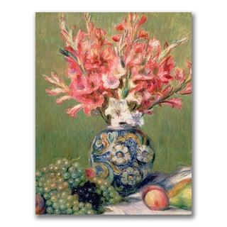 Pierre Renoir 'Still life of Fruit and Flowers' Canvas Art