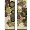 Jeni Lee 'Purple Whimsy Panel I and II' 2-piece Canvas Art Set