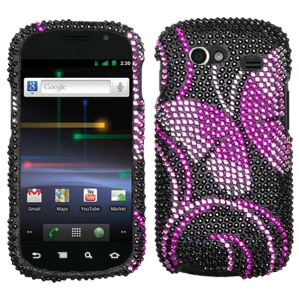 INSTEN Fairyland Butterfly Diamante Phone Case Cover for Samsung Nxs Nexus S