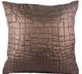 Brown Metallic Decorative 20-inch Down Pillow