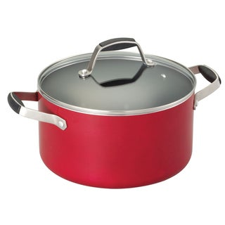 Guy Fieri Red 5.5-quart Round Non-stick Aluminum Dutch Oven
