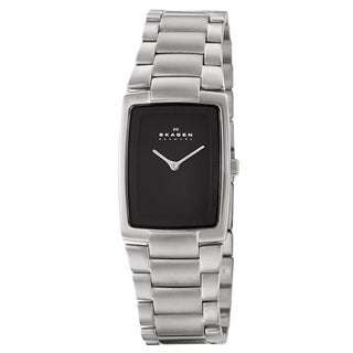 Skagen Men's 'Classic' Stainless Steel Black Dial Watch