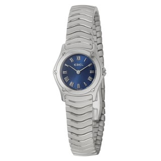 Ebel Women's 'Classic Wave' Blue Dial Swiss Quartz Watch