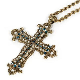 Sweet Romance Renaissance Cross Necklace