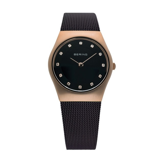 Bering Women's Slim Brown Mesh Strap Watch