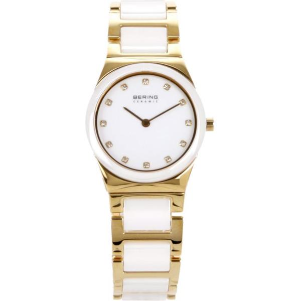 Bering Women's Ceramic/ Stainless Steel Crystal-accented Watch