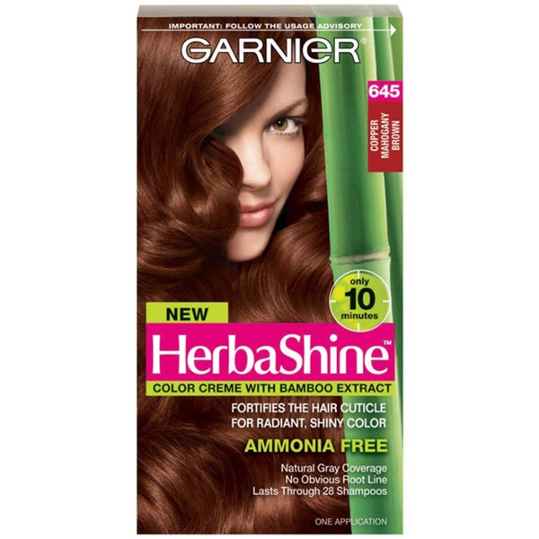 Garnier HerbaShine Copper Mahogany Brown 645 Hair Color Creme