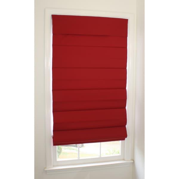 Room-darkening Cordless Red Roman Window Shade