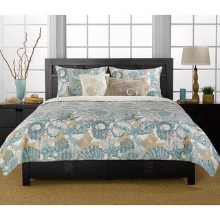 Brushed Ashore Blue 3-piece Quilt Set
