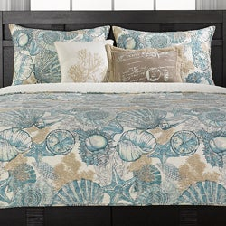 Brushed Ashore Blue 3-piece Quilt Set