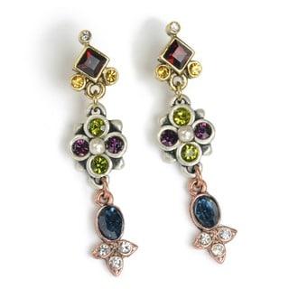 Sweet Romance Victorian Slide Vintage Crystal Earrings