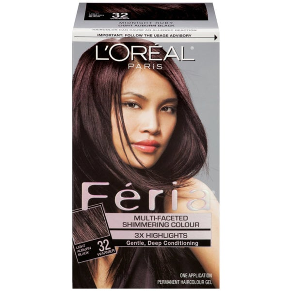 L'Oreal Feria Light Auburn Black 32 Multi-Faceted Shimmering Hair Colour