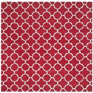 Safavieh Handmade Moroccan Chatham Red/ Ivory Wool Rug (8'9 Square)
