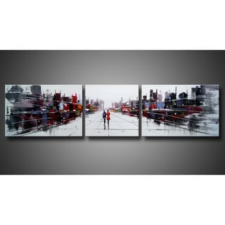 'Dream City' 3-piece Gallery-wrapped Canvas Art Set