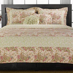 Parisian Paisley 3-piece Quilt Set
