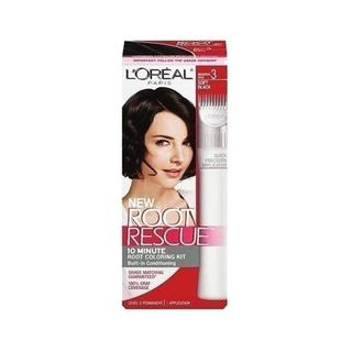 L'Oreal Root Rescue Soft Black 3 Root Coloring Kit