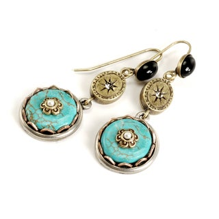 Sweet Romance Turquoise Disk Earrings