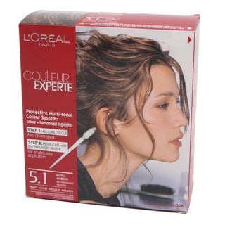 L'Oreal Couleur Experte Express Truffle Medium Ash Brown 5.1 Dual Hair Color Kit