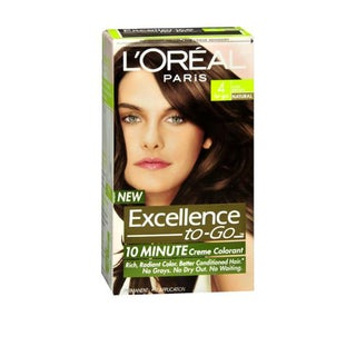 L'Oreal Excellence-to-Go 10 Minute Creme Colorant Dark Brown #4 Hair Color