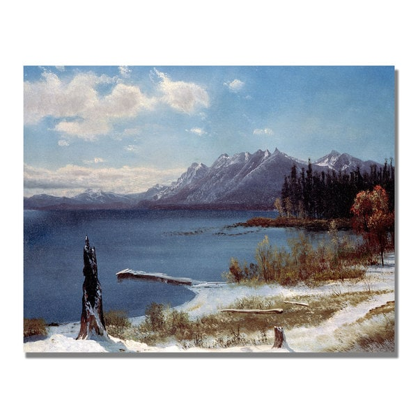 Albert Bierstadt 'Lake Tahoe' Canvas Art