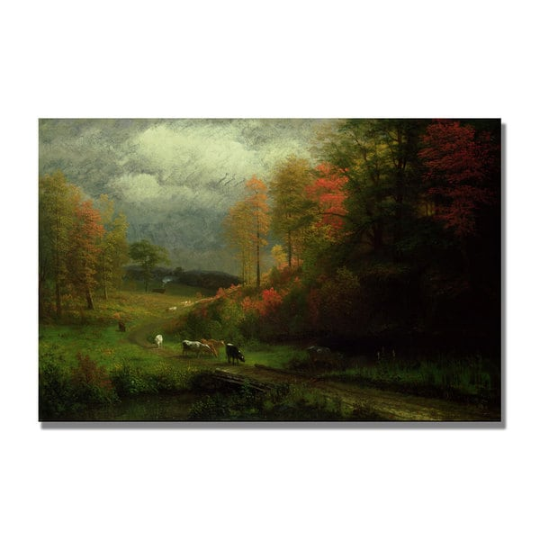 Albert Bierstadt 'Rainy Day in Autumn' Canvas Art
