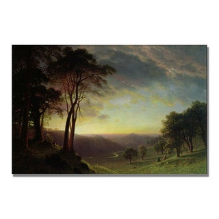 Albert Bierstadt 'The Sacramento River' Canvas Art