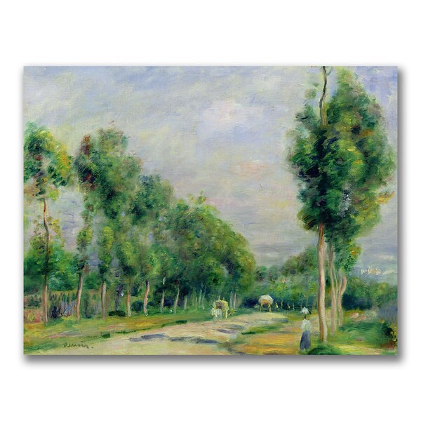 Pierre Renoir 'The Road to Versailles' Canvas Art