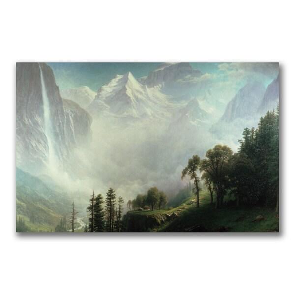 Albert Bierstadt 'Majesty of the Mountains' Canvas Art
