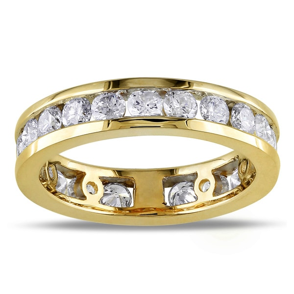 Miadora 14k Gold 2ct TDW Certified Diamond Eternity Ring (G-H, I1-I2)