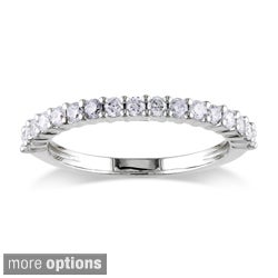 Miadora Certified 14k Gold 1/2ct TDW Diamond Eternity Wedding Band (G-H, I1-I2)