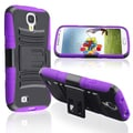 Basacc Purple Skin/ Black Hard Hybrid Case For Samsung� Galaxy S4