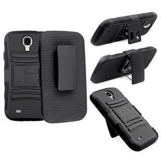 Basacc Black Skin/ Black Hard Hybrid Holster For Samsung� Galaxy S4