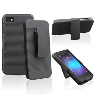 Basacc Black Swivel Holster With Stand For Blackberry Z10