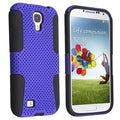 Basacc Black Skin/ Blue Meshed Hard Hybrid Case For Samsung Galaxy S4