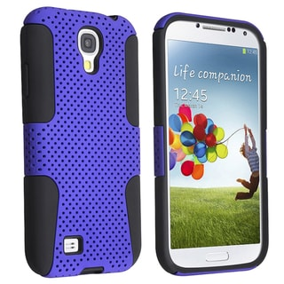 Basacc Black Skin/ Blue Meshed Hard Hybrid Case For Samsung� Galaxy S4