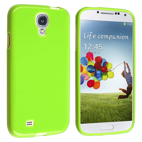 INSTEN Light Green Jelly TPU Rubber Skin Phone Case Cover for Samsung Galaxy S4