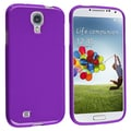 INSTEN Purple Jelly TPU Rubber Skin Phone Case Cover for Samsung Galaxy S4