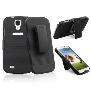 INSTEN Black Swivel Holster With Stand for Samsung Galaxy S IV/ S4
