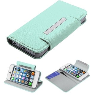 BasAcc Green Book-Style Premium MyJacket Wallet For Apple iPhone 5