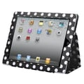 BasAcc Black/ White Dots Jacket Case with Card Slot for Apple iPad 2