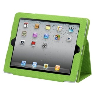 BasAcc Green Ball Jacket-Style Case with Card Slot for Apple iPad 2