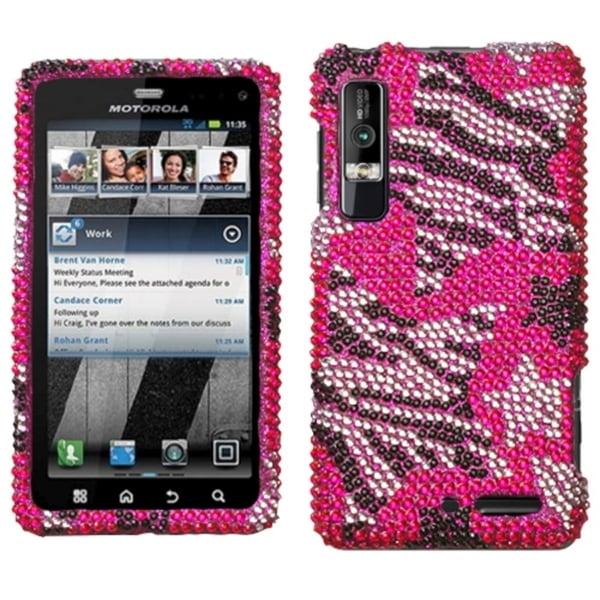 INSTEN Rebel Stars Diamante Phone Case Cover for Motorola XT862 Droid 3