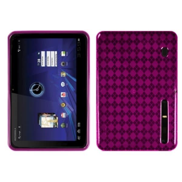 INSTEN Hot Pink Argyle Candy Skin for Motorola MZ600 Xoom