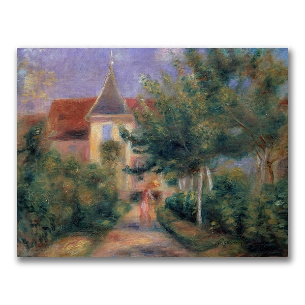 Pierre Renoir 'Renior's house at Essoyes' Canvas Art