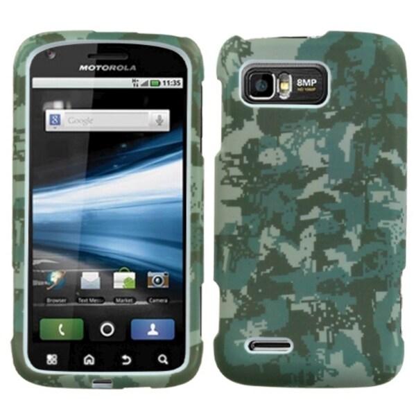 INSTEN Green Digital Camo Phone Case Cover for Motorola MB865 Atrix 2