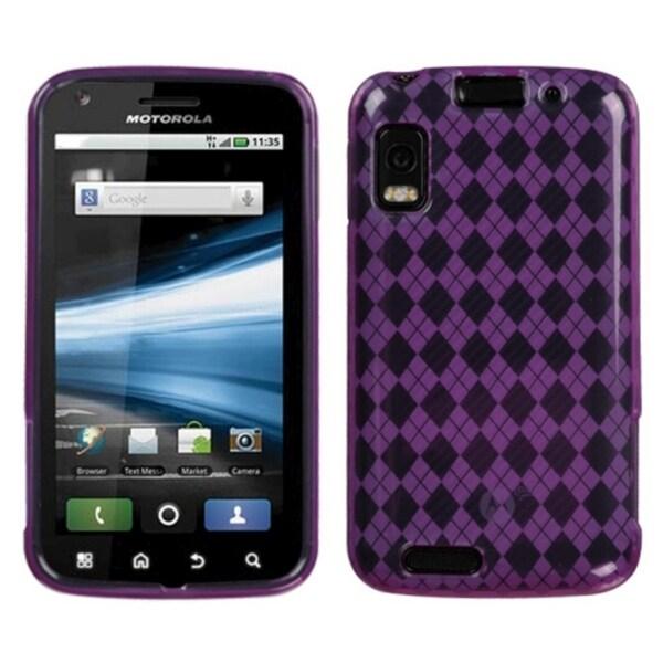 BasAcc Purple Argyle Candy Skin for Motorola MB860 Olympus/ Atrix 4G