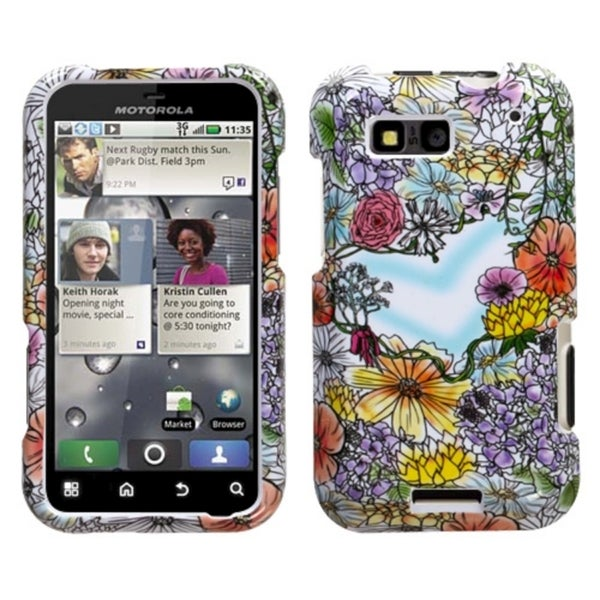 INSTEN Flower Shop Phone Case Cover for Motorola MB525 Defy
