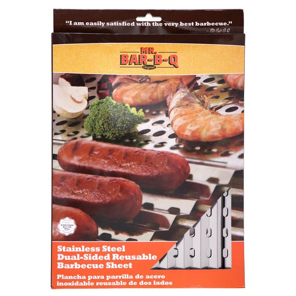 Mr. Bar-B-Q Stainless Steel Dual-sided Reusable Barbecue Sheet
